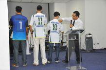Uniforme do time de futebol da ADI
