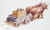 a arca transportada em carro de boi