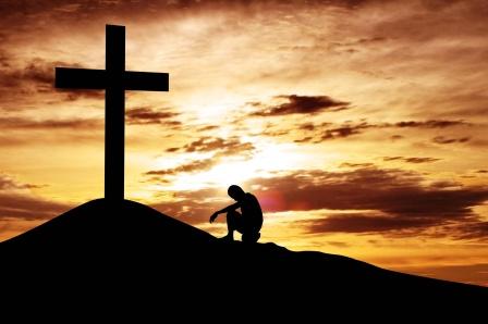 Aos pés do cruz eu me confesso e me entrego a Ti oh Deus!