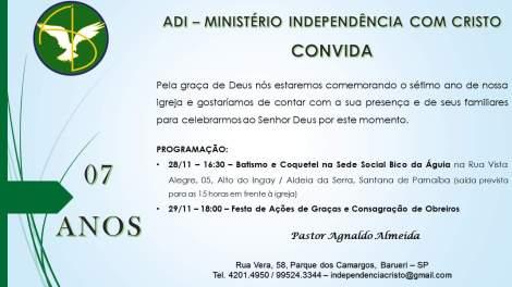 setimo ano ADI independencia com cristo