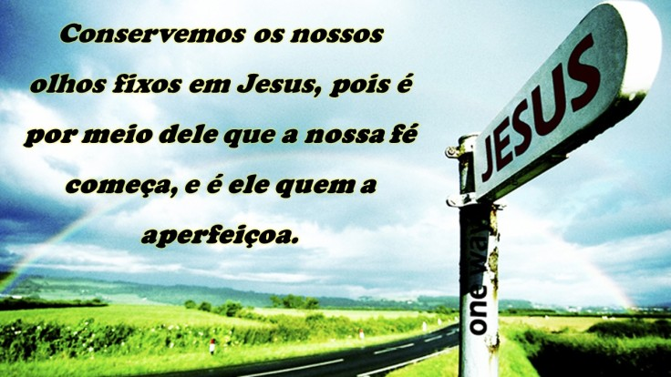 olhando para Jesus